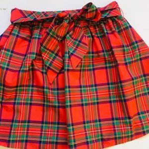 Vineyard Vines Plaid Taffeta Party Skirt